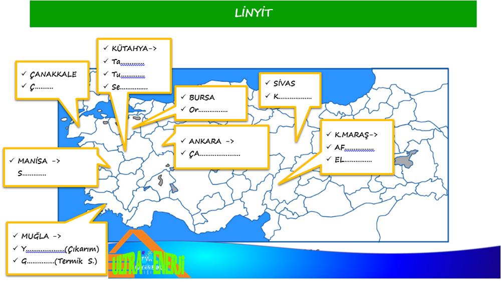 linyit1 - Türkiye'de Çıkarılan Yenilemeyen Enerji Kaynakları ve Bölgeleri